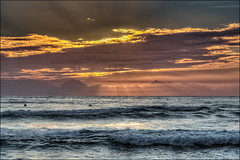 Let me hide behind your tresses (JustAddVignette) Tags: australia beach clouds dawn early flamingsky freshwaterbeach hightide landscapes newsouthwales northernbeaches ocean rocks seascape seawater sky sunrise sydney water waves