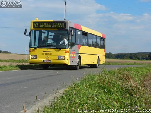 """L42 - Bonneville, Chemin de Strud. Après l'arrêt """"Chapelle"""""""