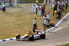 Nigel Mansell - Williams FW11 Honda (Noodles Photo) Tags: williamsfw11honda williams fw11 williamsfw11 honda formel1 formulaone grandprixgermany1986 hockenheimring hockenheim autorennen analogpicture nigelmansell redfive