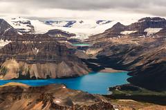 Electric Blue (clark_monson) Tags: cirquepeak bowlake iceberglake bowglacierfalls banffnationalpark icefieldsparkway canadianrockies alberta bowglacier waptaicefield numtijahlodge