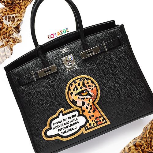 Hermes keyhole leopard bespoke-2 crop leopard copy