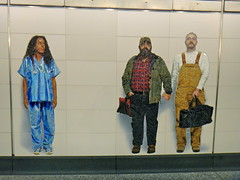 72nd Street station (quiggyt4) Tags: nyc newyork newyorkcity mta nyct nyctransit nycsubway subway secondavenue secondavenuesubway secondavesubway qtrain platform art chuckclose indian loureed cowboy cop policeman tourists british england tourist doctor nurse gay sikh jewish tiger costume balloons mosaic artsfortransit publicart saxophonist construction mtacapitalconstruction mtaconstruction cuomo elevator escalator subwaystation portrait baby occupy track tracks ows occupywallstreet ronpaul trump donaldtrump uppereastside manhattan transit cities city gothamist