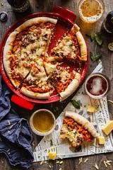 IMG_8728_exp (Helena / Rico sin Azúcar) Tags: beer cerveza pizza basil albahaca orégano oregano lunch dinner comida food ham pepper pimientos
