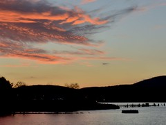 One Kind Word Can Warm Three Months (Lojones13) Tags: outdoor sky clouds river newyork water sunset reflection silhouette colors hudsonriver valley
