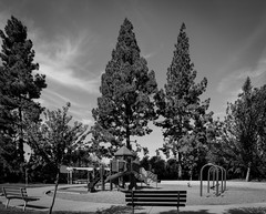 Empty playground - Happy Sliders Sunday (randyherring) Tags: ca swing activity climb flowers nature neighbourhood playtime play red fitness california entertainment outside sky bw enjoyment recreational fun community leisure slide monochrome yellow happiness trees junglegym outdoor structure empty park sand recreation playground outdoorplayequipment colorful sidewalk plastic benches bench equipment afternoon green exercise liveoakmanorpark blackandwhite losgatos childhood