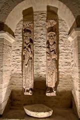 Two saints (Chemose) Tags: abbatial abbatiale abbey abbaye saintphilibert tournus église church roman romanesque interior intérieur statue saint france canon eos 7d hdr décembre december