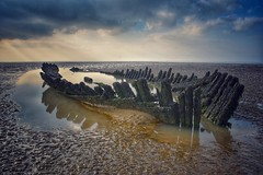 Wrecked (Nige H (Thanks for 7.5m views)) Tags: nature landscape beach berrow berrowbeach shipwreck wrecked somerset sky cloud mud nornen ssnornen rnli