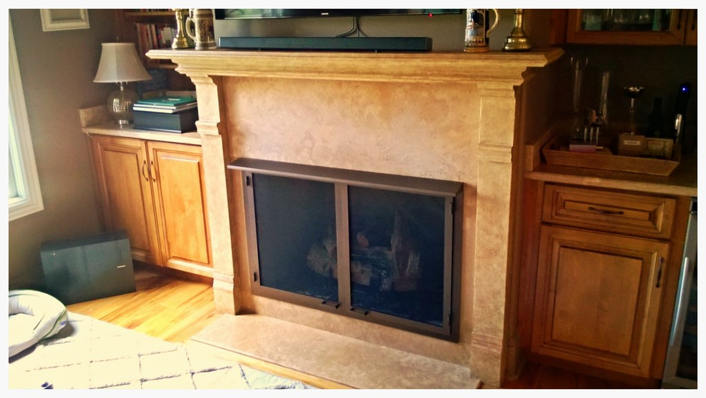 Design Specialties Custom Screen Fireplace Doors for Vent Free. Chattanooga, Tn.