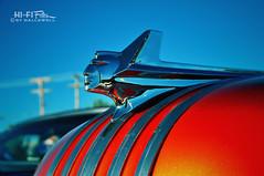 Pontiac Royalty (Hi-Fi Fotos) Tags: orange detail vintage design nikon classiccar chief style icon nostalgia ornament chrome american 1950s hood pontiac 50s bling hoodornament timeless chieftain d5000 hallewell hififotos