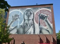 Arts and Sciences (Lorianne DiSabato) Tags: streetart college boston campus ma mural nu massachusetts northeastern elmac northeasternuniveristy