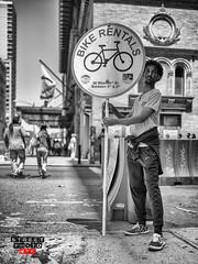 Bike Rentals (Street Photo NYC) Tags: street city nyc people blackandwhite bw ny newyork streets monochrome blackwhite nikon centralpark manhattan streetphoto d600