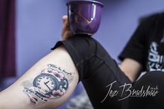 Day 28: Flowers (Jez Bradshaw Photography) Tags: flowers tattoo 30 canon cherry photography 50mm photo day blossom 14 watch sigma 7d 28 parlour pocket challenge jez hellcats bradshaw