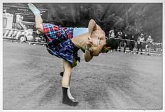Scottish Backhold Wrestlers: Paul Craig & George Reid (FotoFling Scotland) Tags: balloch event georgereid highlandgames lochlomondhighlandgames paulcraig scotland scottishwrestlingbond grip hold kilt kilted legs male socks wrestler wrestlingbond