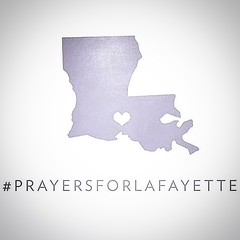 "Please join us in prayer for our neighbors in Lafayette. John 16:33 ""In this world you will have trouble. But take heart! I have overcome the world."" #prayforlafayette"