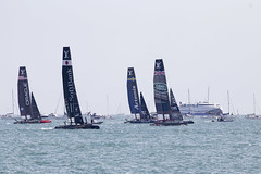 Americas Cup Race 2 (Steven Vacher) Tags: sea bar boat sailing omega emirates solent portsmouth artemis landrover americascup softbank southsea worldseries cmc americascupboat flyemirates benainslie cmcmarkets americascupworldseries benainslieracing