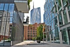 Around Milano Porta Garibaldi (mangaddicted) Tags: city italy skyscrapers milano aerial porta garibaldi approvato