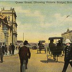 Queen Street (showing Victoria Bridge) Brisbane, Australia - circa 1910 thumbnail