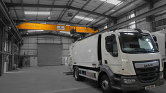 Overhead Crane and a Refuse Collection Vehicle