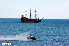 Pirate boat Tunisia 2015 (seifracing) Tags: rescue cars car truck europe cops traffic britain tunisia tunis transport police voiture vehicles trucks van emergency polizei peugeot spotting services policia recovery tunisie brigade polis tunisian tunesien polizia 2015 policie seifracing