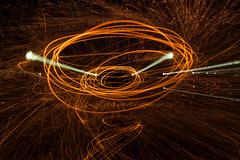 Playing with the Zoom (DrSchabbs) Tags: longexposure friends slr wool night canon fun happy photography wire long exposure action sigma australia tunnel spinning canberra sparks canoneos rhys act davies settings australiancapitalterritory wirewool rhysdavies 50d canoneos50d canberraphotographer