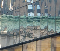 Grand Central Station - Reflected (TheMachineStops) Tags: 2016 outdoor window glass reflection distortion nyc newyorkcity manhattan midtown fragmented grandcentralterminal grandcentralstation roof patina