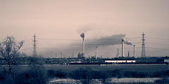 When countryside meets Industry (Guy Sleeman) Tags: canon eos 60d ef 85mm f18 ef85mmf18 oil refinery industry countryside landscape p66 total northeastlincolnshire lincolnshire