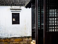 LatticeView.jpg (Klaus Ressmann) Tags: klaus ressmann omd em1 facade prc summer village zhujiajiao ancienthouse design flicvarious lattice klausressmann omdem1