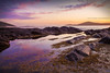 Fingal Bay Rockpools || PORT STEPHENS || NSW (rhyspope) Tags: australia aussie nsw new south wales canon 5d mkii port stephens nelson bay finger shoal sunrise sunset water sea ocean rockpool reflection seaweed nature sky cloud rhys pope rhyspope weather natural