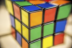 Warped....HMM!!! (Joe Hengel) Tags: macro macromondays macromonday hmm toy rubikscube squares warped