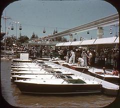 Tomorrowland Reel 3, #6b - Motorboat Dock in Tomorrowland (Tom Simpson) Tags: viewmaster slide vintage disney disneyland 1960s vintagedisney vintagedisneyland