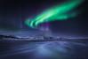 Vik Aurora (Mark McLeod 80) Tags: 2016 iceland markmcleod markmcleodphotography ice winter aurora frozen lake auroraborealis