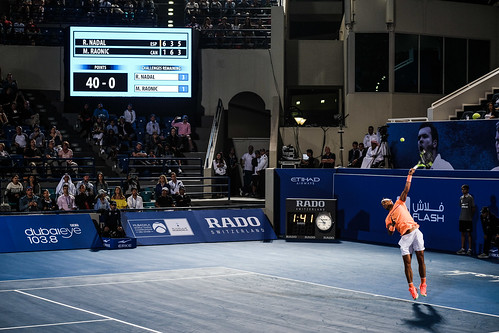 "Rafael Nadal's Match Point against Milos Raonic • <a style=""font-size:0.8em;"" href=""http://www.flickr.com/photos/125636673@N08/31873130221/"" target=""_blank"">View on Flickr</a>"