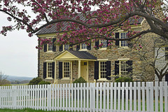 Historic Mount Bleak House at Sky Meadows State Park Virginia- edited (vastateparksstaff) Tags: home house history historic spring picketfence buds blooms springtime