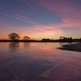 Sunrise Mogshade Pond - New Forest (C Sinclair) Tags: mogshadenewforest sunrisemogshade newforestsunrise icepatterns ice