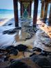 DogwoodWeek 3 - Land (Tatterededges) Tags: bridge ocean bay rocks sand sea landscape oceanscape waterscape beacheslandscapes beach dogwood52 dogwood2017 dogwoodweek3 dogwood2017week3 iphone iphonography