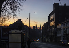 20170206_Walking down the hill (Damien Walmsley) Tags: cathedral stchadscathedral constitutionhill road birmingham sunrise sky dailycommute traffic