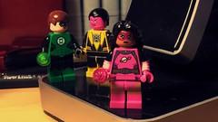 Star Sapphire? (LordAllo) Tags: lego dc green lantern star sapphire sinestro yellow pink