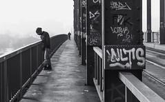Steel in a line (Master Iksi) Tags: steel people bridge canon 700d beograd belgrade srbija serbia street streetphotography