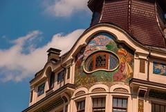 Riquet & Co (Smiley Man with a Hat) Tags: building architecture germany deutschland spring saxony leipzig sachsen architektur altstadt gebude frhling 2014 riquet reichsstrase riquetco schuhmachergschen