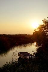 Pak Nai Sunset (I) (Ian Smith (Studio72)) Tags: light sunset sea sun sunlight water sunshine silhouette river hongkong evening boat warm shadows nt newterritories paknai rx100 studio72 shenzhenbay sonyrx100