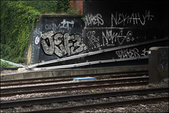 Jef3 / Dukes / Neka (Alex Ellison) Tags: urban graffiti boobs tag railway chrome graff dukes trackside northlondon neka pws 1t nekah neks paintwasters jef3