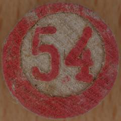 Lotto number 54 (Leo Reynolds) Tags: xleol30x squaredcircle xsquarex number numberset numberbingo bingo lotto loto houseyhousey housey housiehousie housie group9 54 groupnine sqset117 50s canon eos 40d xx2015xx xxtensxx sqset