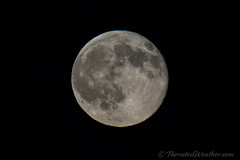 July 31, 2015 - The full Blue Moon closes out the month. (ThorntonWeather.com)