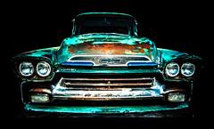 fleetside (madmtbmax) Tags: green classic chevrolet car truck vintage 50mm nikon rust rusty pickup chevy american oldtimer v8 fleetside ruby3 d700 worldcars ruby10 ruby15