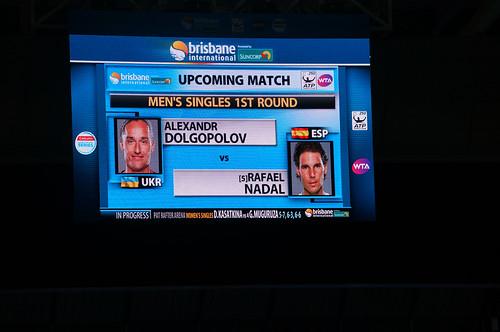 Rafael Nadal vs Alexandr Dolgpolov On Big Screen