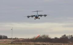 ZM411 (2-5) (goweravig) Tags: zm411 airbus a4oom aircraft raf swansea wales uk swanseaairport flyby brizenortontransportwing lowpass