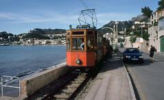 Tranvía de Sóller (SteveInLeighton's Photos) Tags: april kodachrome transparency 2004 tram tramway majorca mallorca spain soller portdesoller espana