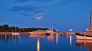 Whisper under Rovinj moonlight and blue hour