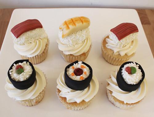 Sushi Sashimi Cupcakes
