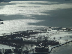 Aerial View, Snow View, Governors Island, One World Observatory, World Trade Center Observation Deck, New York City (lensepix) Tags: aerialview snowview oneworldobservatory worldtradecenterobservationdeck newyorkcity observationdeck governorsisland hudsonriver